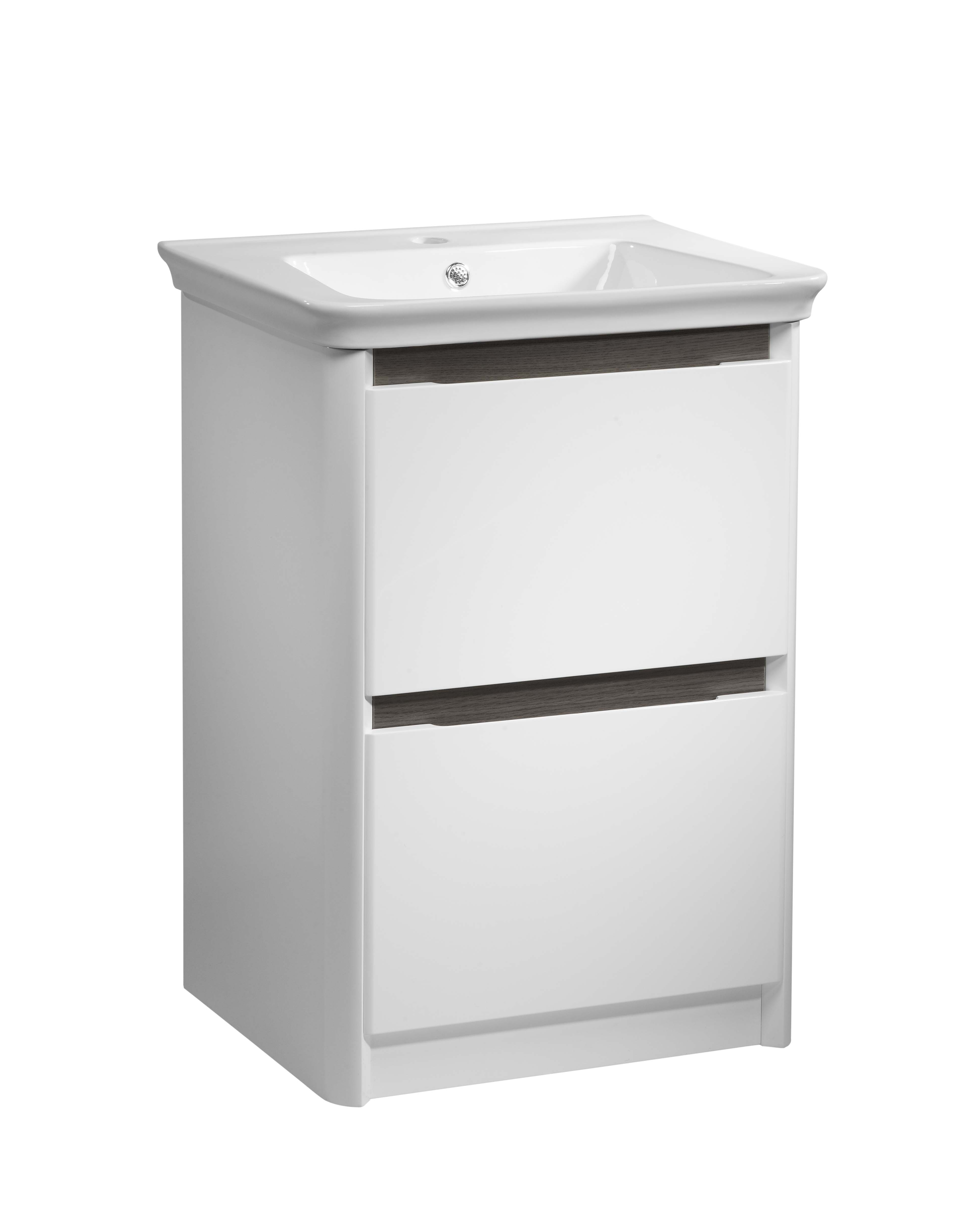 click on 70cm Floor Standing Vanity Unit with Drawers image to enlarge
