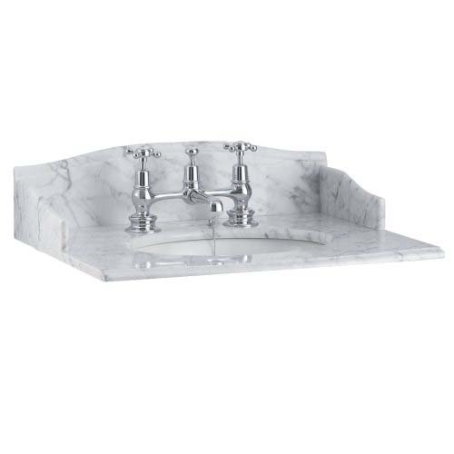 click on Carrara Marble Countertop Basin image to enlarge