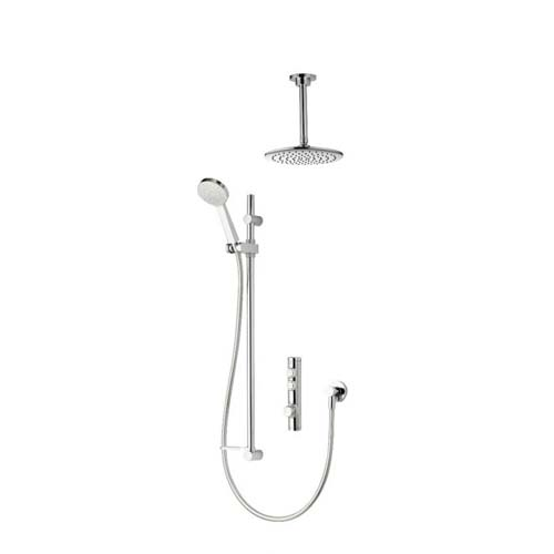 click on Concealed Shower with Ceiling Mounted Fixed & Adjustable Heads image to enlarge