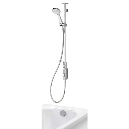 click on Exposed Shower with Adjustable Head & Overflow Bath Filler image to enlarge