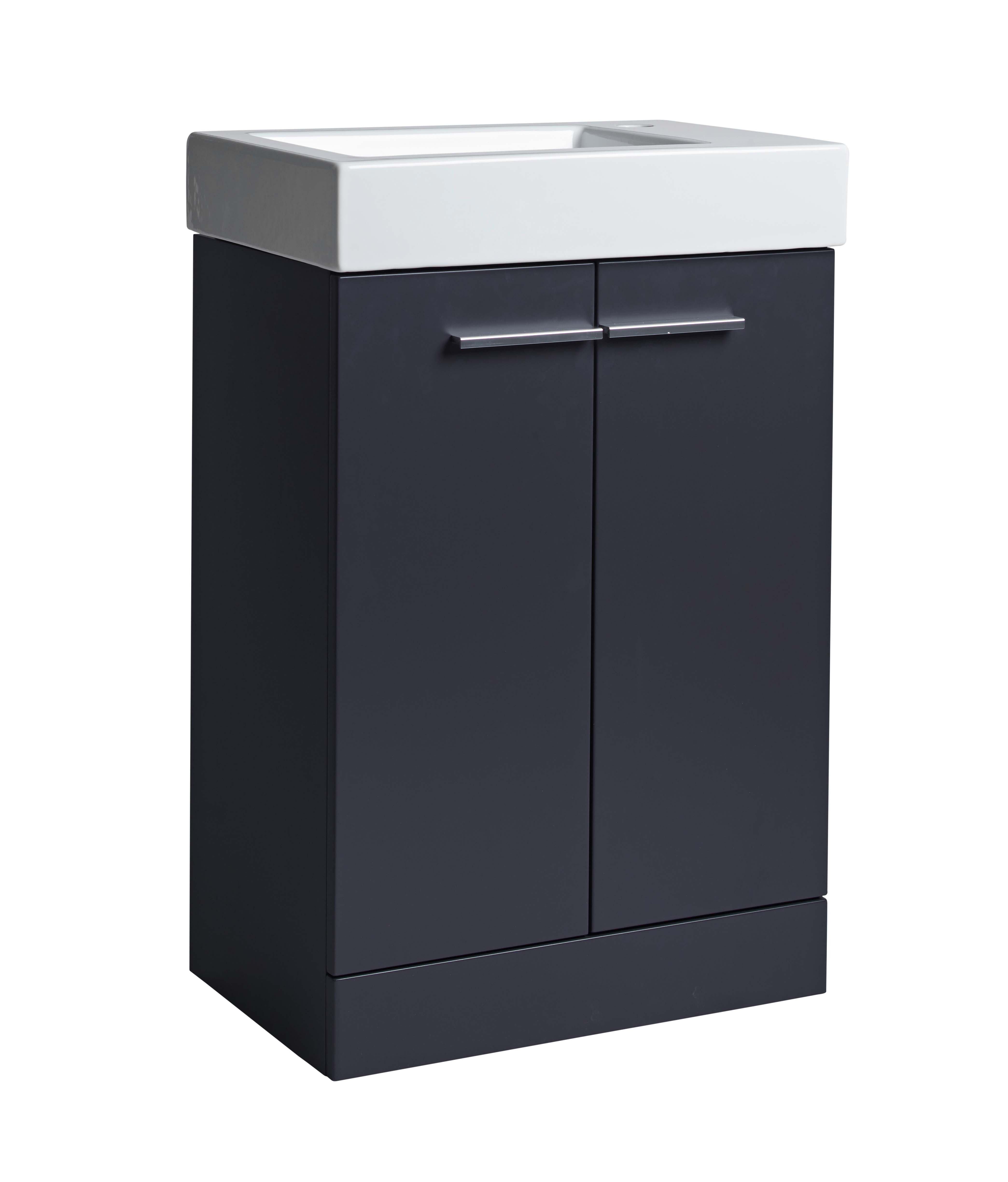click on 56cm Basin and Floor Standing Vanity Unit image to enlarge