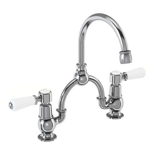 click on Bridge Basin Mixer with Curved Spout (For Classic Basins) image to enlarge