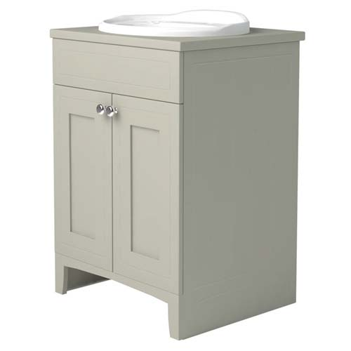 click on Extra Deep Vanity Unit with Solid Composite Worktop and Basin image to enlarge