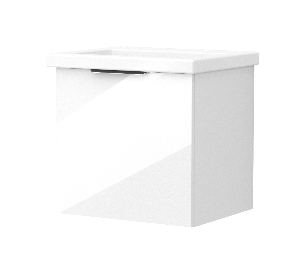 click on 50cm Wall Hung Single?Drawer Unit image to enlarge