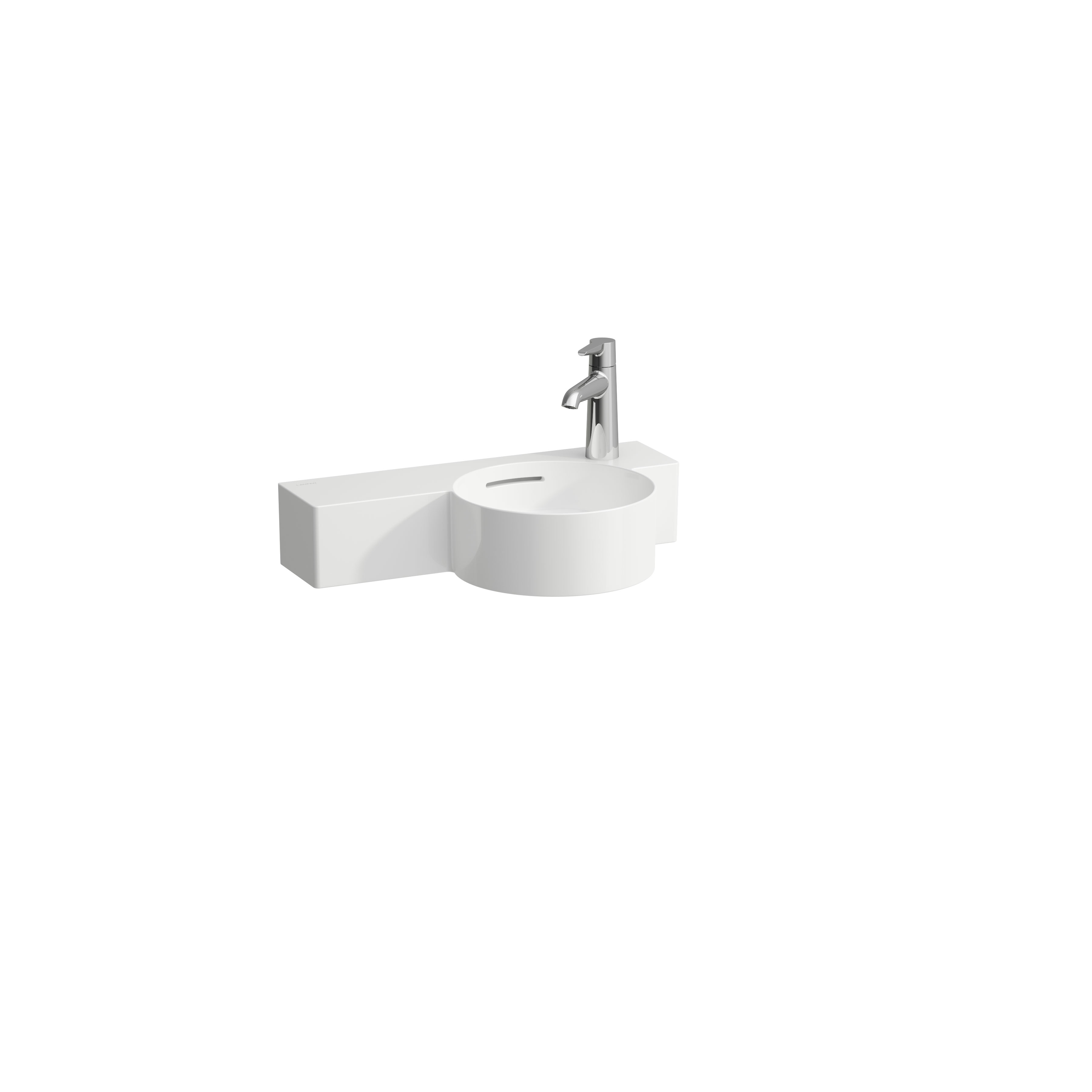 click on Small Round Basin with Shelf - Left image to enlarge