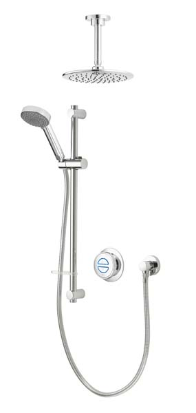 click on Concealed Shower with Ceiling Mounted Fixed & Adjustable image to enlarge