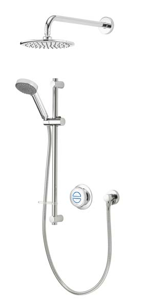 click on Concealed Shower with Wall Mounted Fixed & Adjustable Heads image to enlarge