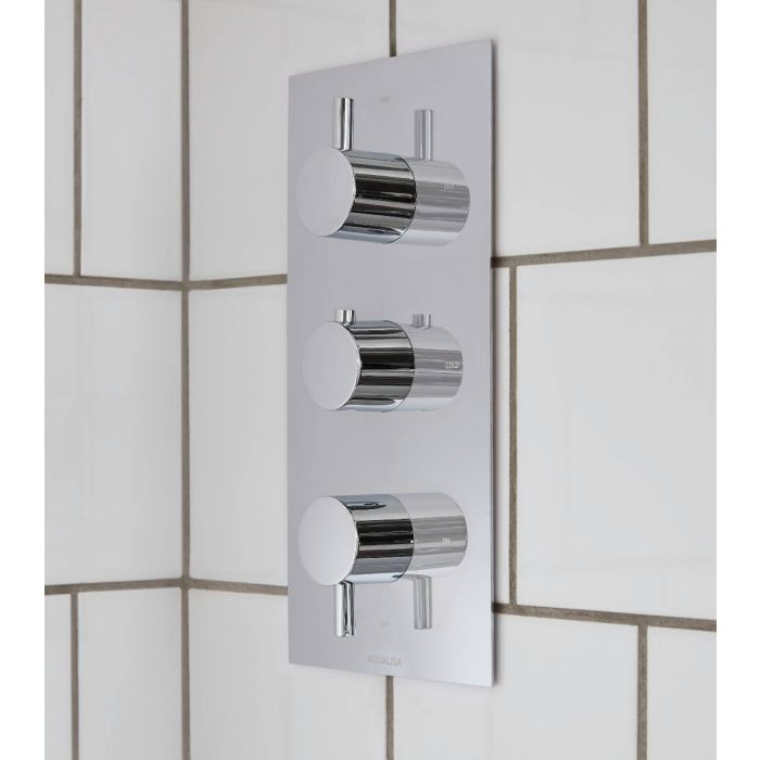 click on Thermostatic Concealed 3 Way Shower Valve image to enlarge