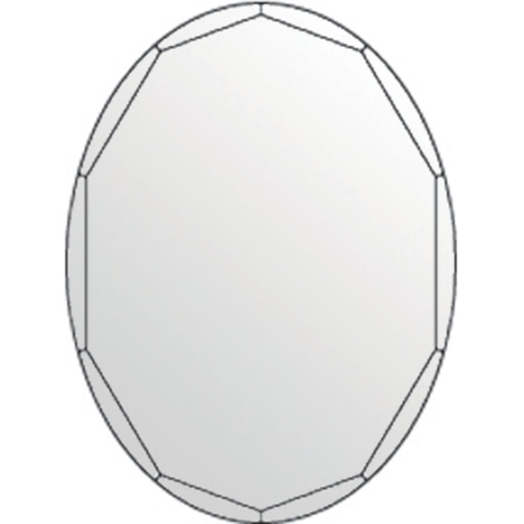 click on Shaped Mirror with Polished Bevelled Edge image to enlarge