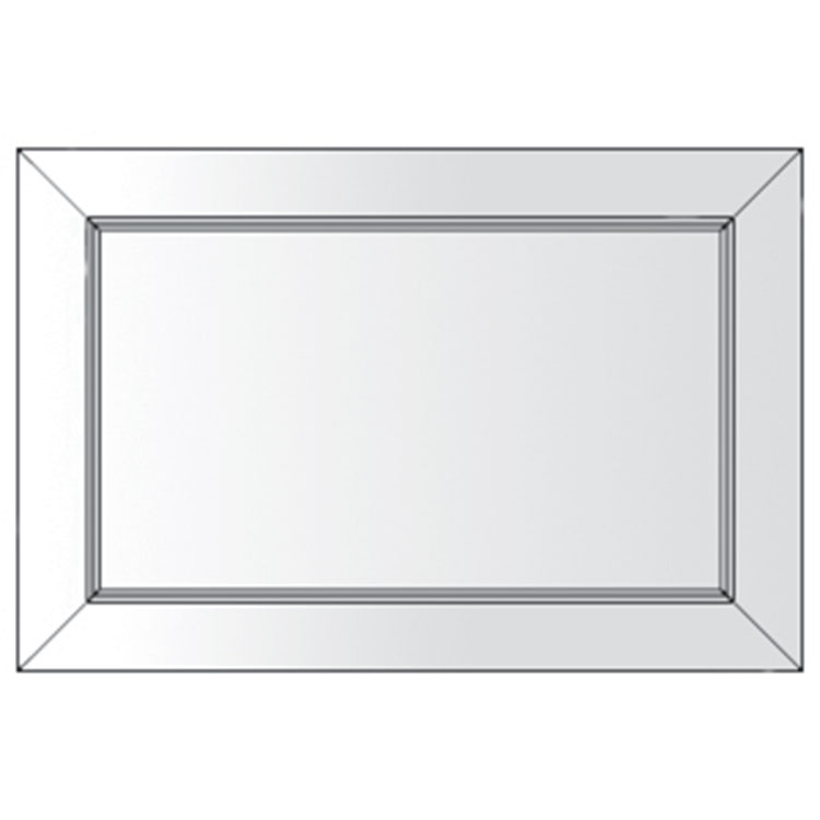 click on Square Mirror with Polished Bevelled Edge image to enlarge