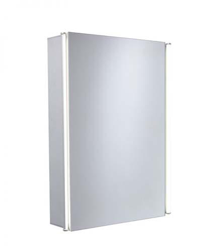 click on Sleek One Door Mirror Cabinet image to enlarge