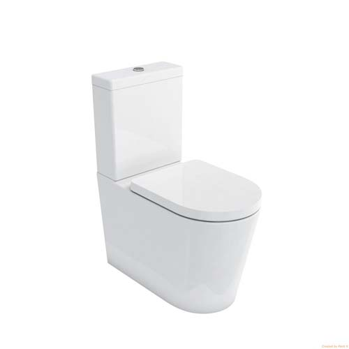 click on Rimless  Comfort Height WC (fully back to wall) image to enlarge
