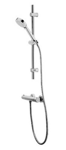 click on Exposed Thermostatic Bar Shower with Slide Rail Kit image to enlarge