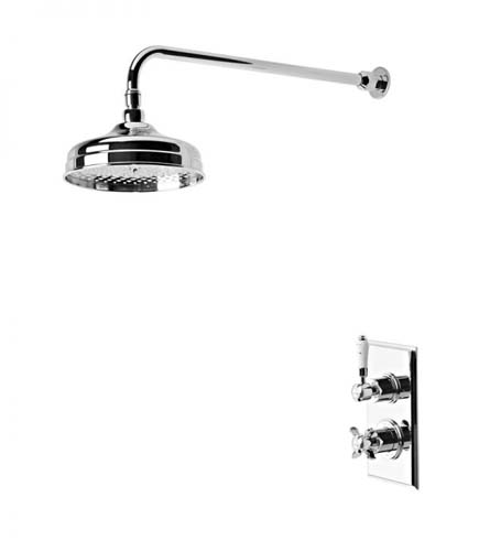 click on Concealed Thermostatic One Outlet Shower with Fixed Head image to enlarge