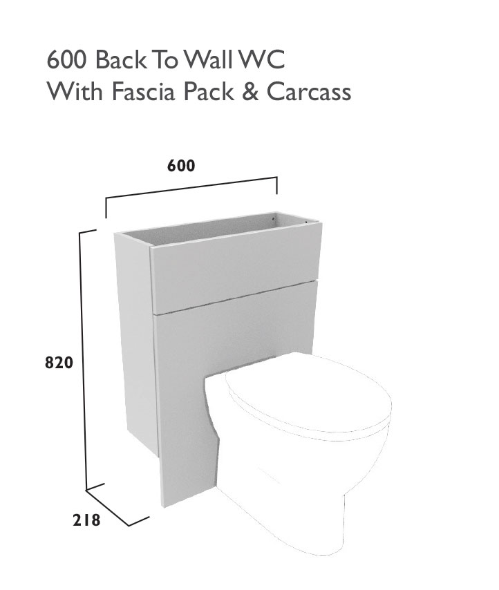 click on 600mm WC Unit - Reduced Depth image to enlarge