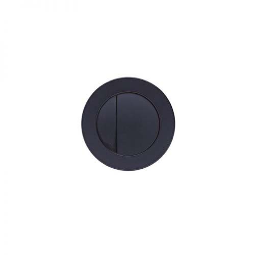 click on Round Flush Button Black image to enlarge