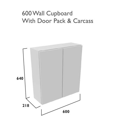 click on 600mm Double Door Wall Cabinet image to enlarge