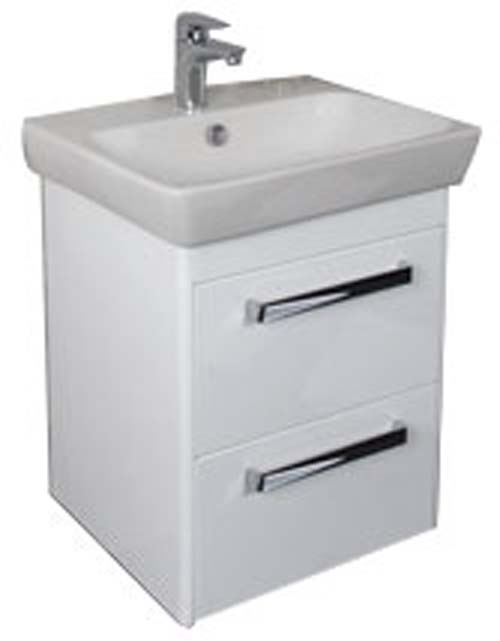 click on 60cm Basin Unit with Two Drawers image to enlarge