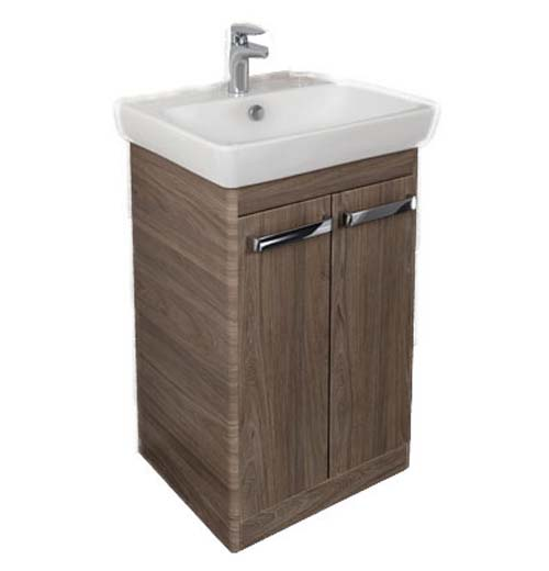 click on 60cm Floorstanding Basin Unit with Two Doors image to enlarge