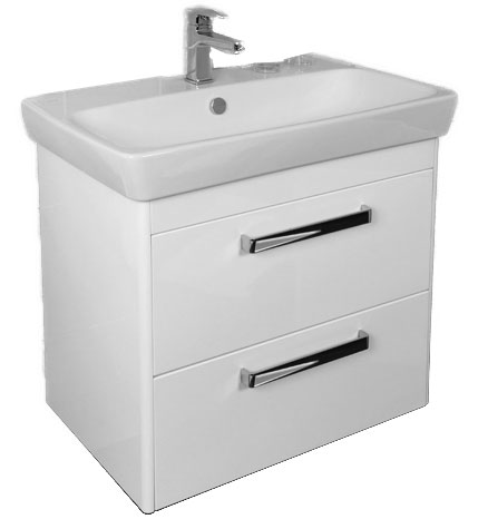click on 80cm Basin Unit with Two Drawers image to enlarge