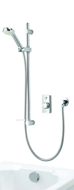 click on Concealed Shower with Adjustable Head & Overflow Bath Filler image to enlarge