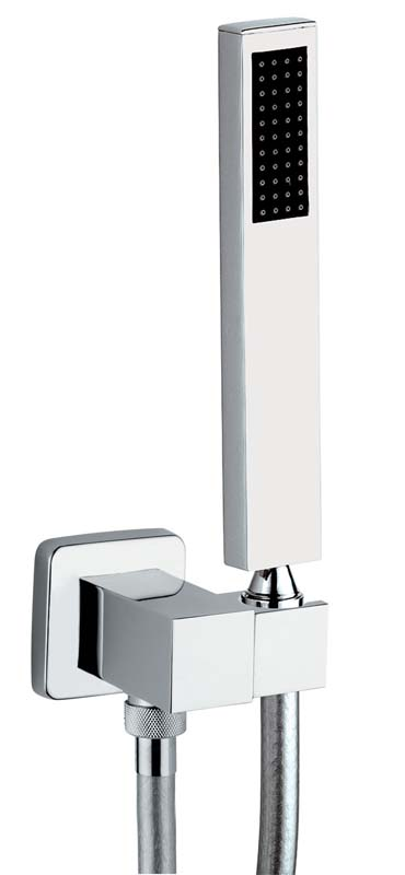 click on Square Combined Wall Outlet and Handshower and Bracket image to enlarge