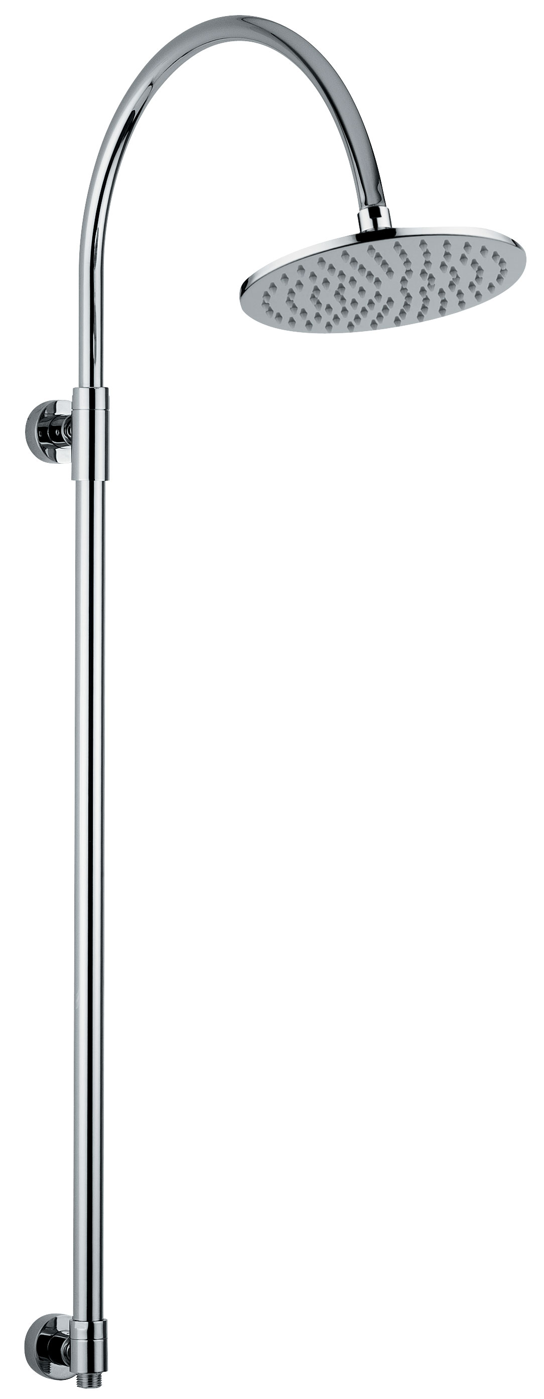 click on Circular Exposed Rigid Riser with 200mm Circular Showerhead image to enlarge