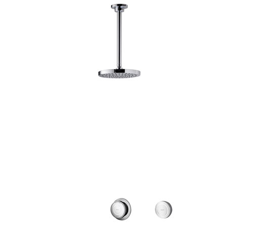 click on Concealed Shower with 200mm Ceiling Mounted Drencher Head image to enlarge