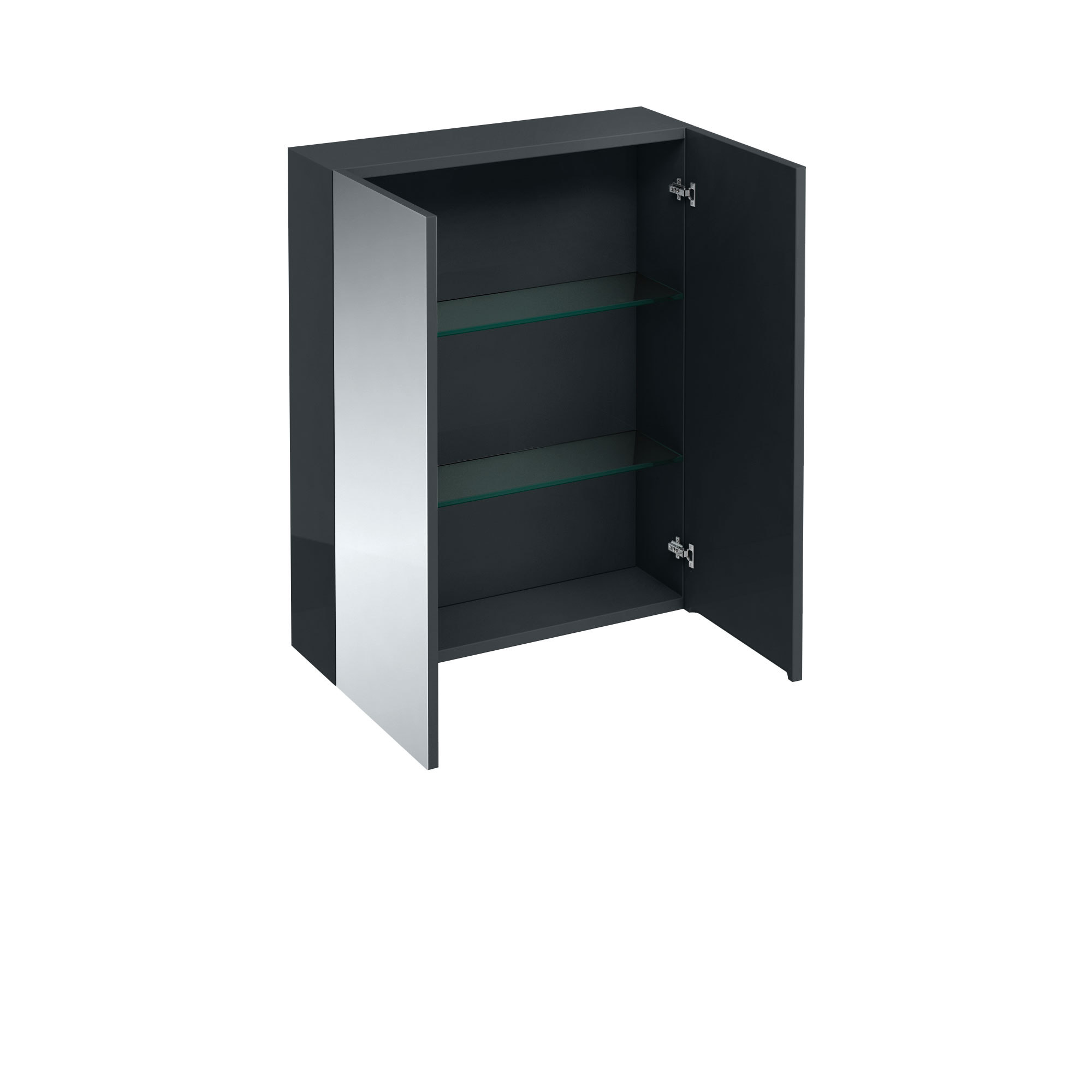 click on Double Door Wall Unit with Mirrored Doors image to enlarge