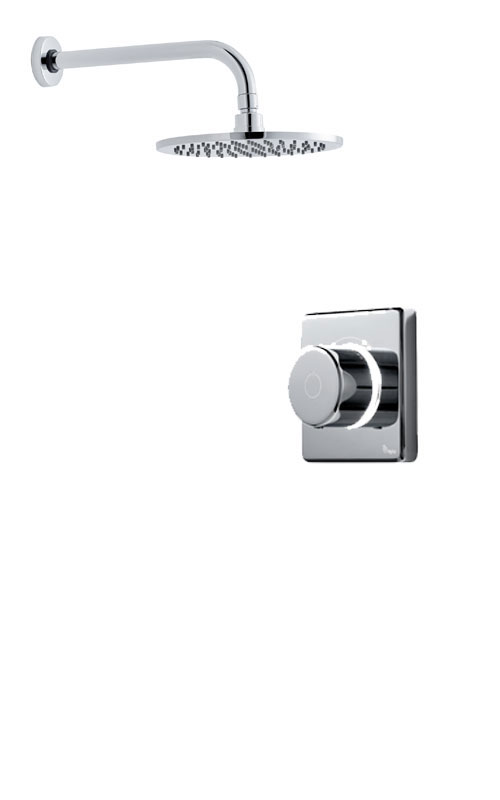 click on Digital Shower with Wall Mounted Round Fixed Head image to enlarge