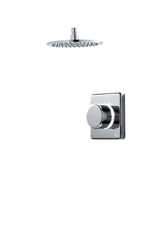 click on Digital Shower with Ceiling Mounted Round Fixed Head image to enlarge