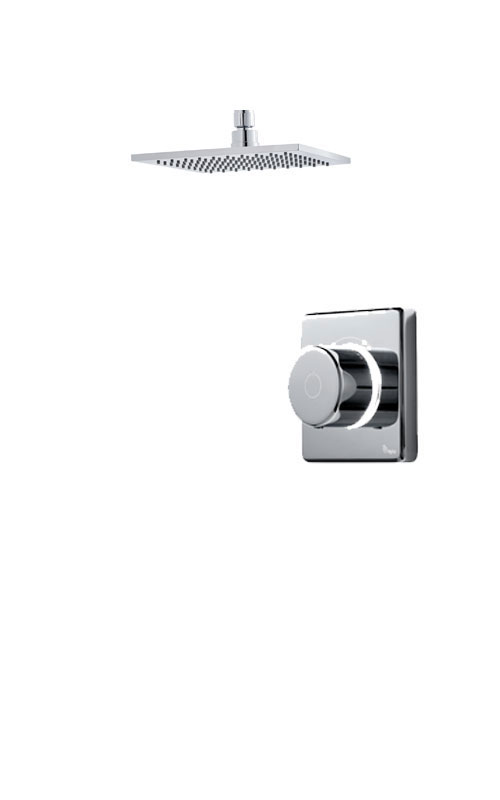 click on Digital Shower with Ceiling Mounted Square Fixed Head image to enlarge