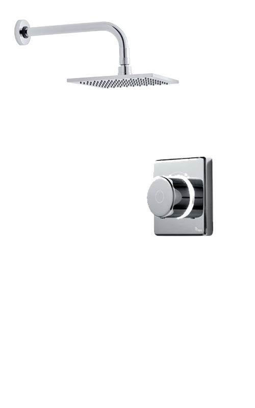 click on Digital Shower with Wall Mounted Square Fixed Head image to enlarge