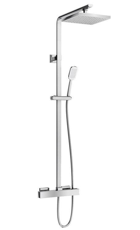 click on Square Exposed Thermostatic Shower Valve image to enlarge