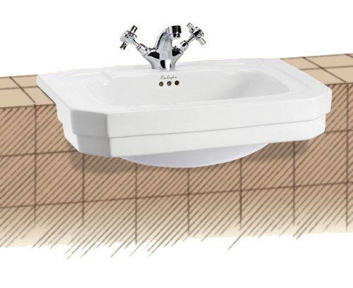 click on Semi Recessed Basin image to enlarge