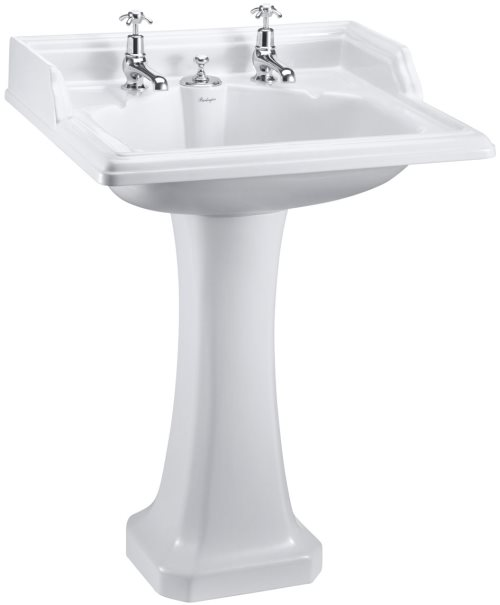 click on Square Basin & Pedestal image to enlarge