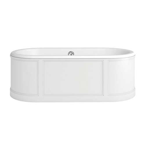 click on London Bath with Curved Surround image to enlarge