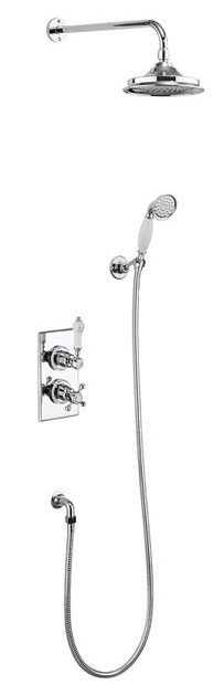 click on Trent Concealed 2 Control with Fixed Head, Hose and Handset image to enlarge