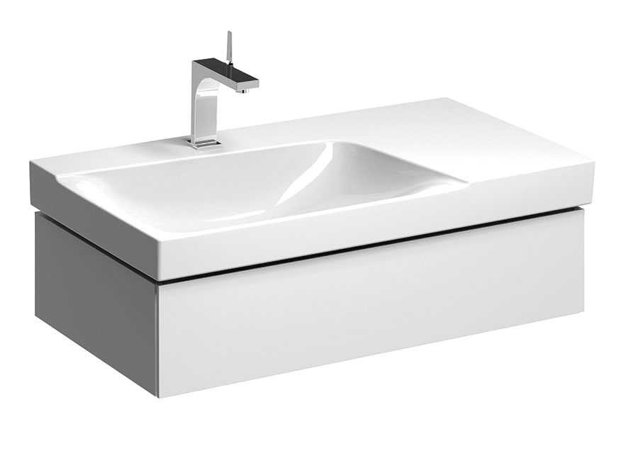 click on 90cm Asymmetrical Vanity Unit image to enlarge