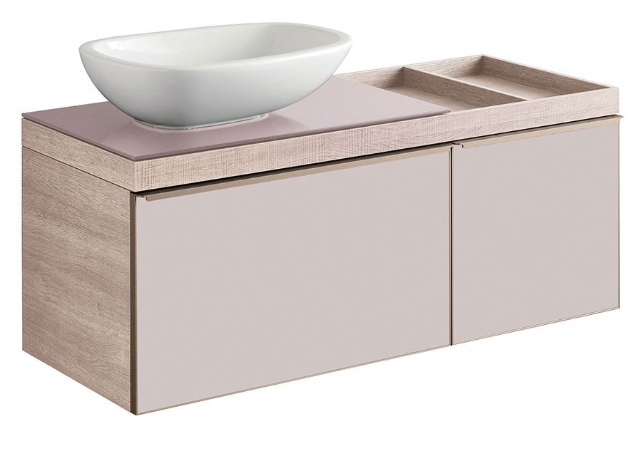 click on Vanity Unit with Drawer and Shelf for Sit on Basin image to enlarge