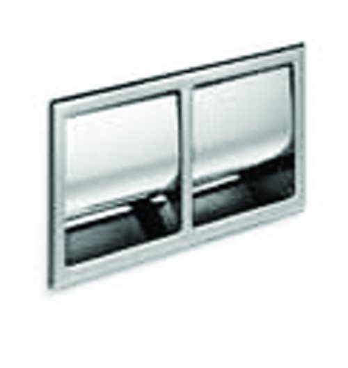 click on Recessed Double Toilet Roll Holder image to enlarge