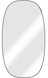 click on Shaped Mirror with Polished Edge image to enlarge