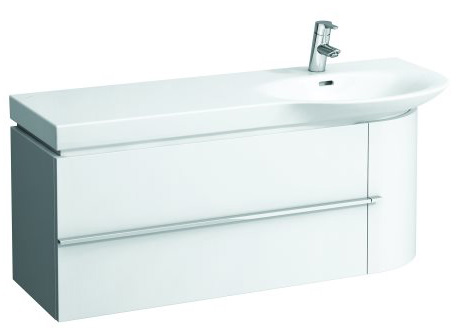click on 114cm Vanity Unit with Drawer and Door image to enlarge