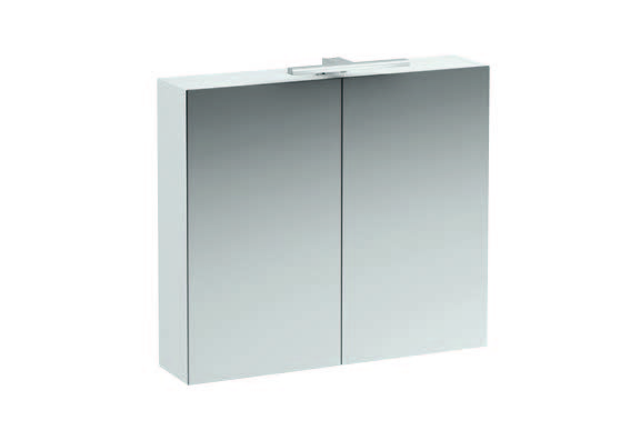 click on 80cm Mirrored Cabinet with Light image to enlarge