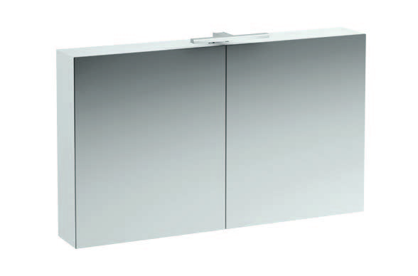 click on 120cm Mirrored Cabinet with Light image to enlarge