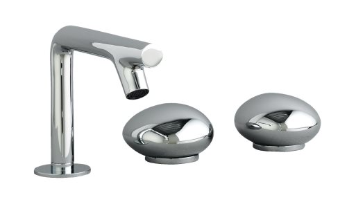 click on Pebble 3 Hole Basin Mixer image to enlarge