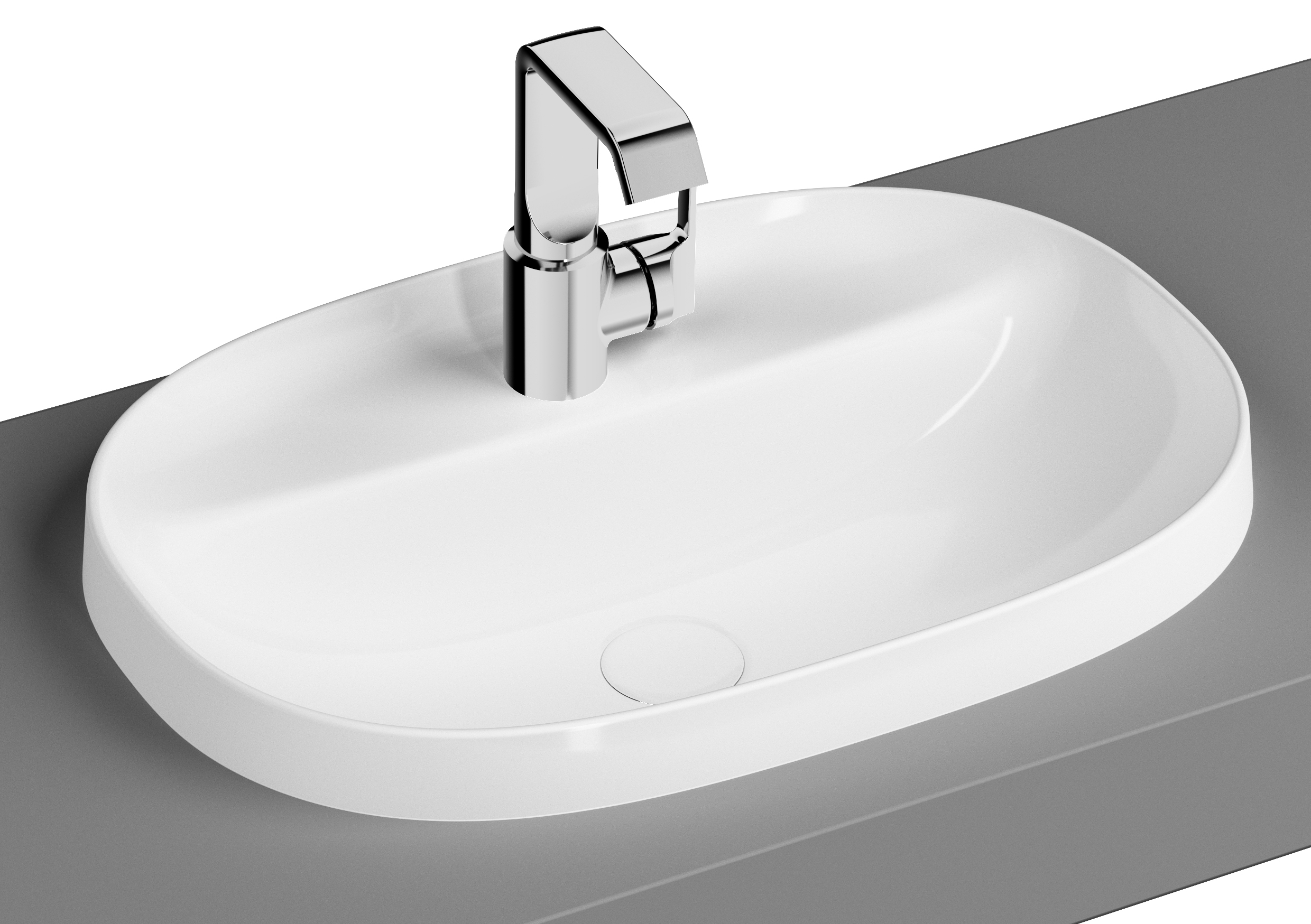 click on Oval Countertop Basin image to enlarge