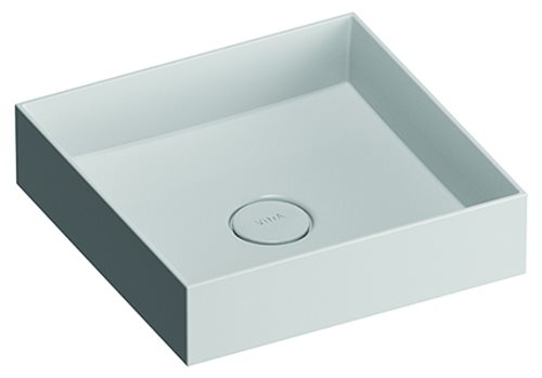 click on Square Countertop Mineral Cast Basin image to enlarge
