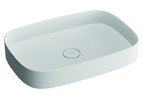 click on Oblong Countertop Mineral Cast Basin image to enlarge