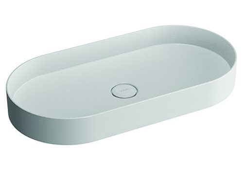 click on Oval Countertop Mineral Cast Basin image to enlarge
